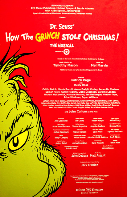 Dr Seuss How The Grinch Stole Christmas.Dr Seuss How The Grinch Stole Christmas The Musical Tim